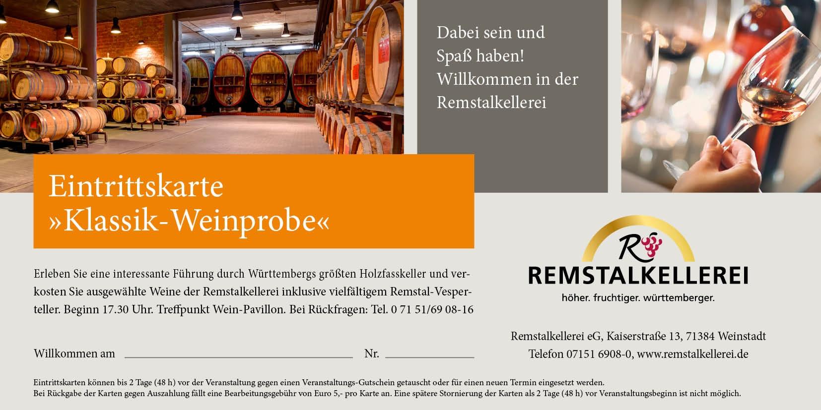 Gutschein für Klassik-Weinprobe